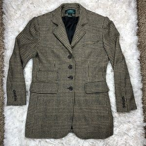 Lauren Ralph Lauren Houndstooth Blazer Jacket Sz 8